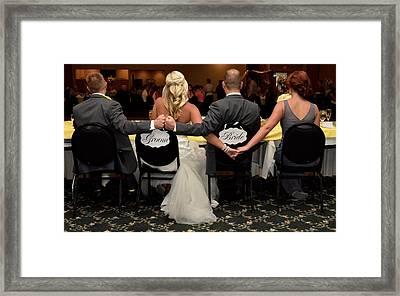 The Newlyweds  Framed Print