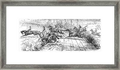 The Newport Pagnel Steeple Chase Framed Print