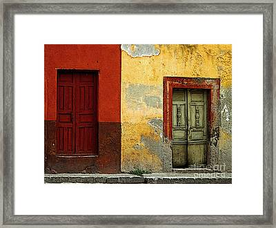 The Next Door Framed Print by Mexicolors Art Photography