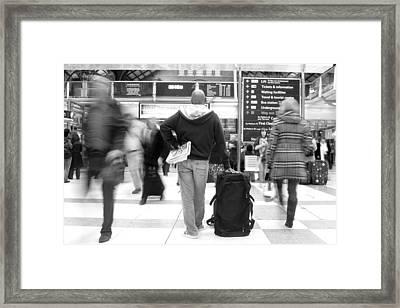 The Next Train On Platform 4 Framed Print by Jez C Self