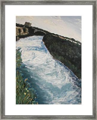 the Niagra Framed Print by Heather Burbridge