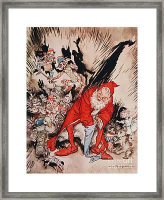 The Night Before Christmas Framed Print by Arthur Rackham