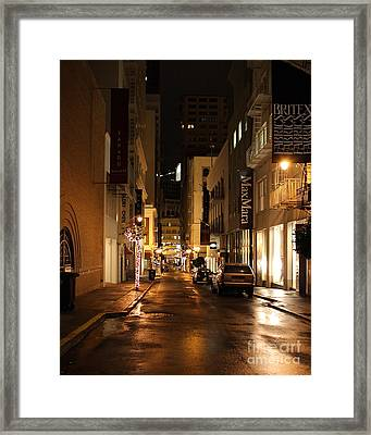 The Night Before Christmas On Maiden Lane Framed Print by Wingsdomain Art and Photography