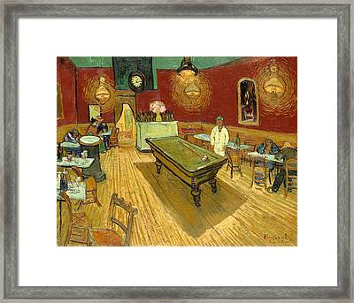 The Night Cafe Auto Contrasted Framed Print