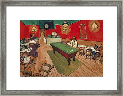 The Night Cafe In Arles Framed Print by Vincent van Gogh