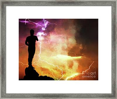 The Night Electric Framed Print