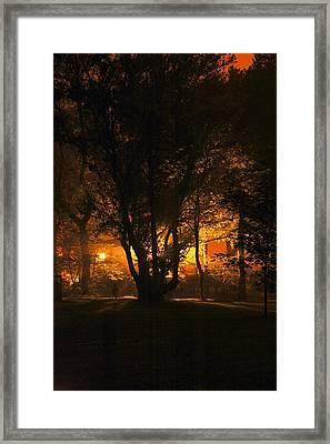 The Night Glows Framed Print by Megen McAuliffe