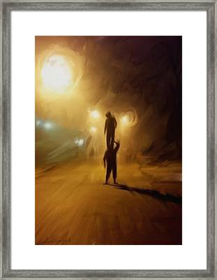 The Night Framed Print by H James Hoff