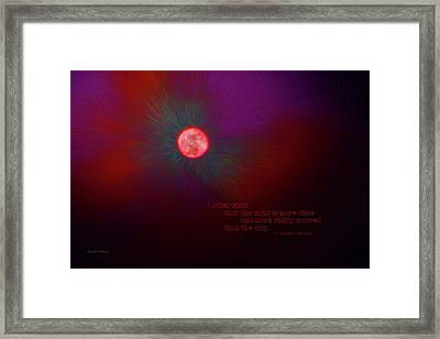 The Night Is More Alive Framed Print