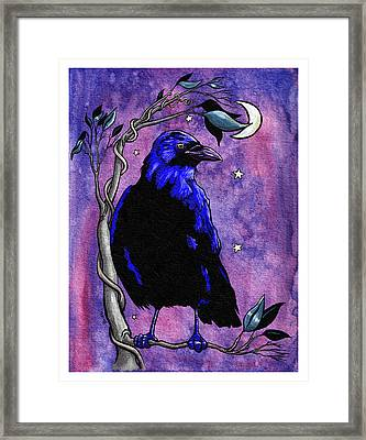 The Night Raven Framed Print by Baird Hoffmire