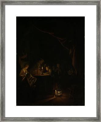 The Night School Framed Print by Gerard Dou