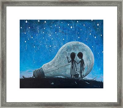The Night We Broke The Moon Framed Print by Adrian Borda