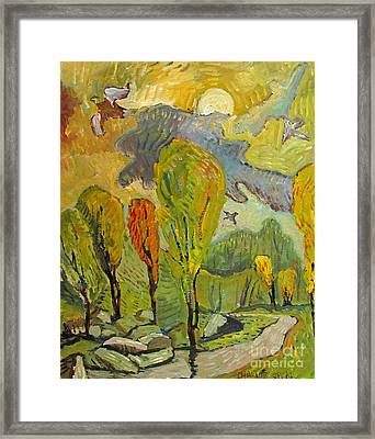 The Nightingales Flew Up To Heaven Framed Print