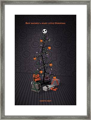 The Nightmare Before Christmas Alternative Poster Framed Print by Christopher Ables