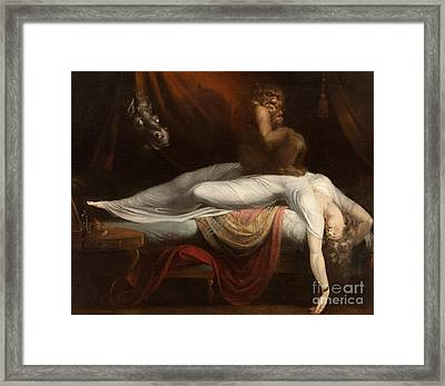 The Nightmare Framed Print by Henry Fuseli
