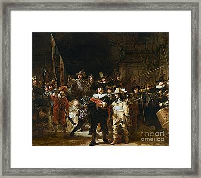 The Nightwatch Framed Print by Rembrandt