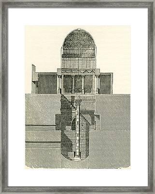 The Nilometer, Island Of Rhoda, Egypt Framed Print