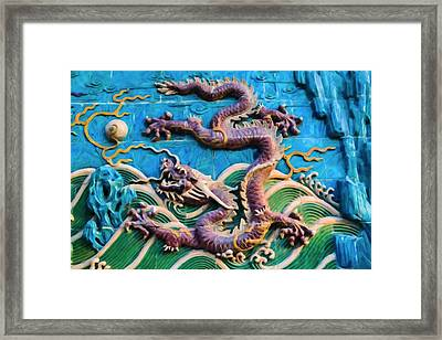 The Nine-dragon Wall Framed Print