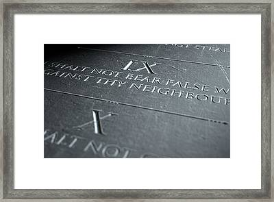 The Ninth Commandment Framed Print