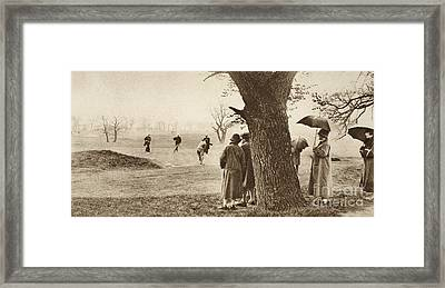 The Ninth Green At Tooting Bec Golf Course Framed Print by English School