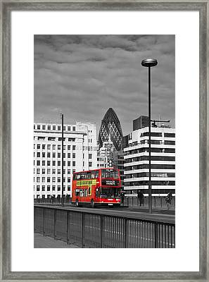 The No 43 To London Bridge Framed Print by Hazy Apple