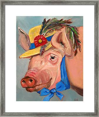 The Noble Pig Framed Print by Susan Thomas