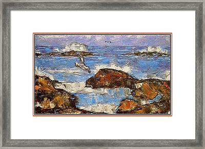 Framed Print featuring the painting The Noise Of The Waves 3 by Pemaro
