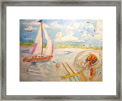 The None Such Sailboat Framed Print by Michelle Reid