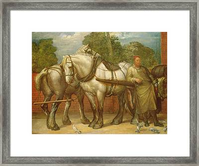 The Noonday Rest  Framed Print by George Frederick Watts
