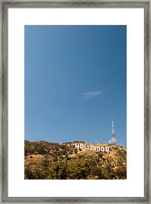The Nora Ephron Shot - Beachwood Canyon Framed Print by Natasha Bishop