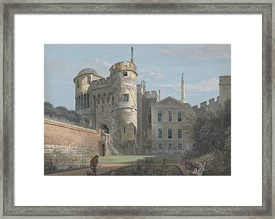 The Norman Gate And Deputy Governor's House Framed Print by Paul Sandby