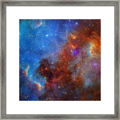 The North America Nebula In Different Lights Framed Print