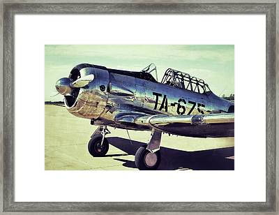 The North American Aviation T-6 Texan Plane Color Edition Framed Print by Tony Grider