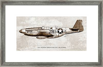 The North American P-51 Mustang Framed Print by Gary Bodnar