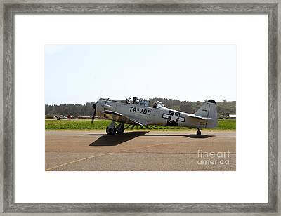 The North American T6 Texan Military Aircraft . 7d15782 Framed Print by Wingsdomain Art and Photography