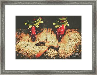 The North Pole Toy Factory Framed Print