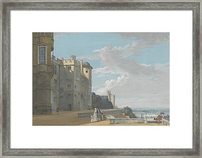 The North Terrace, Windsor Castle, Looking West Framed Print by Paul Sandby