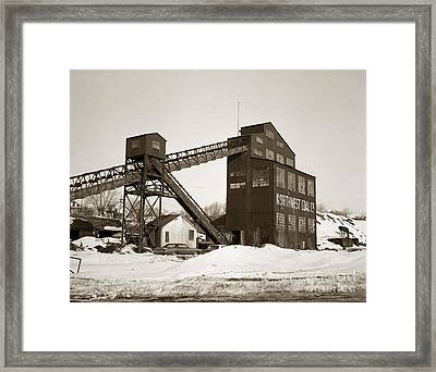 The Northwest Coal Company Breaker Eynon Pennsylvania 1971 Framed Print