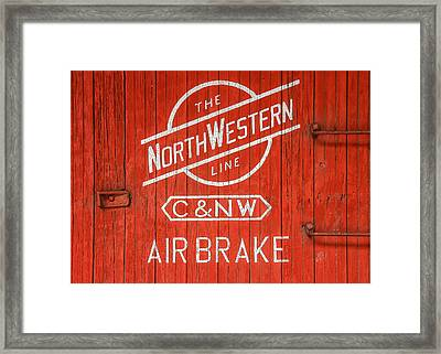The Northwestern Line Framed Print