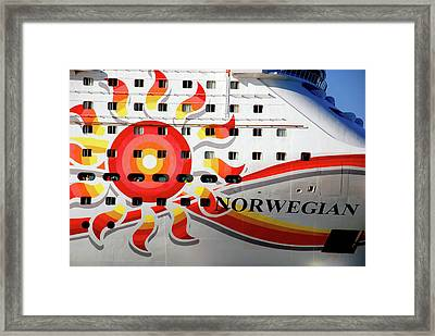 The Norwegian Sun Bow Framed Print