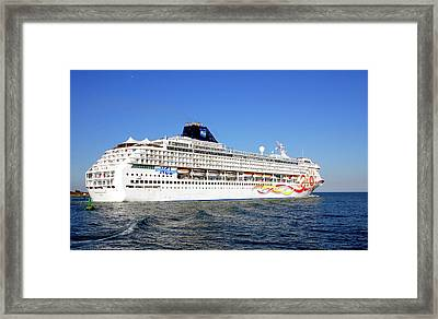 The Norwegian Sun Is Leaving Framed Print