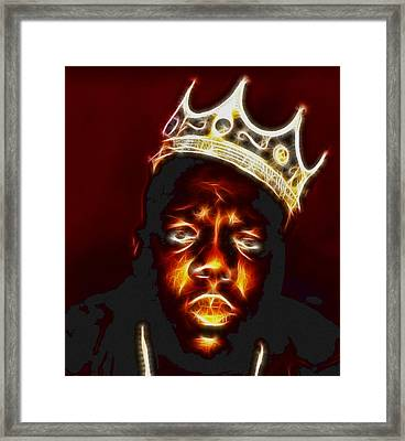 The Notorious B.i.g. - Biggie Smalls Framed Print by Paul Ward