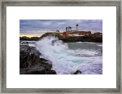 The Nubble After A Storm Framed Print by Rick Berk