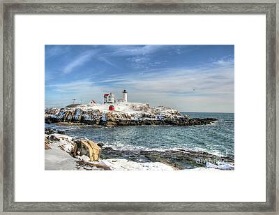 The Nubble Light Framed Print