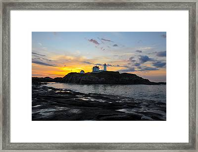 The Nubble Light Framed Print by Catherine Easton