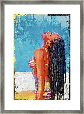 The Nubian Beauty Framed Print