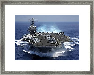 The Nuclear Powered Aircraft Carrier Framed Print by Everett