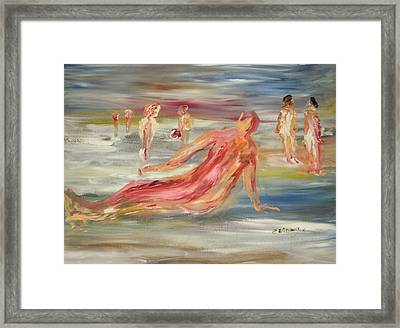 The Nude Beach Framed Print by Edward Wolverton