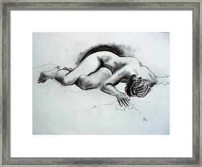 The Nude Model Framed Print by Richard Tuvey