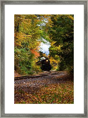 The Number 40 Rounding The Bend Framed Print